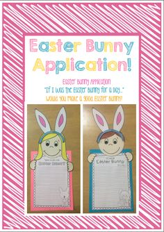 """Easter Bunny Writing Craftivity. """"If I was the Easter Bunny for a Day..."""" """"Would you make a good Easter Bunny?"""" Creative and persuasive writing prompts!!"""
