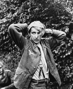A young German soldier has his hands clasped behind his head as he is taken prisoner with thousands of other Wehrmacht soldiers, at St.George d'Elle, France, during the Allied Normandy invasion in July German Boys, German Army, Normandy Invasion, Royal Marines, War Photography, British Soldier, Second World, D Day, Press Photo