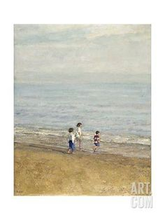Games on the Beach Giclee Print by Alicia Grau at Art.com