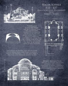 . Hagia Sophia Art Historical Architectural by ScarletBlvd on Etsy, $25.00. USA