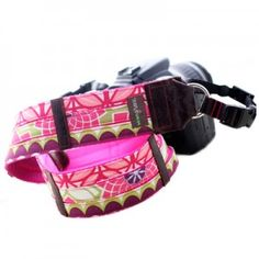 New designer camera straps! This pink beauty is the 'Cora' Strap