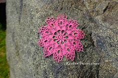 Crocheted pink doily. Cheerful pink doily от LiubovPonomareva