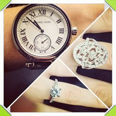 Birthday Pressie's for one of our customers who turned 30 recently. Michael Kors Watch. Buckley Rings.