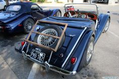 1966 Morgan. As seen at the 2015 Texas All British Car Days show.