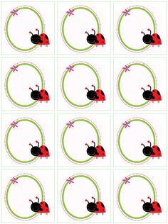 Printable Ladybug Labels