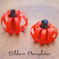 Tutorial: Ribbon Pumpkin Centerpiece