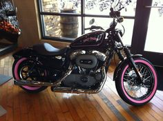 Pink Harley-Davidson Sportster | Share this: