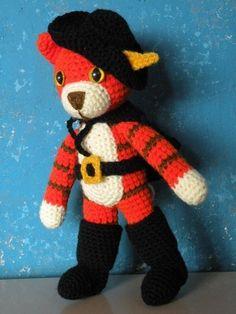 Puss in Boots, crochet pattern, amigurumi