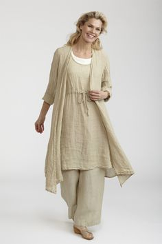 Flax Summer Socials Duster 2012.  This fabulous Flax Women's Duster is available in lovely neutral colors: Dove Gauze and Slate Gauze online at www.flaxgirl.com/tops/summer-socials-2012/summer-socials-duster-2012/.