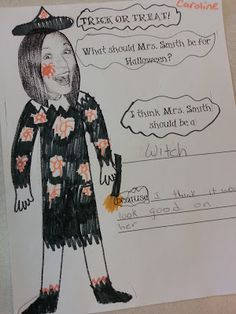 What Should my Teacher be for Halloween? Quick and simple writing prompt