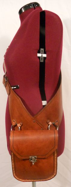 Leather Messenger Bandolier/Baldric by KellanCreations on Etsy