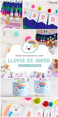 Kit imprimible para fiestas - lluvia de amor #lluviadeamor #partyideas#printable#partyprintable#etsyprintables#party#partying#partystyling#mypartystyle #partyplanner#partydecor#partyideasgroup#kidsparties#partyideasforkids#kidsparty#birthdayparties#partykids#partyinspiration#partydecoration#partydesigner#partyprintables#diypartydecor#birthdaypartyideas#ideasdedecoracion#fiesta#fiestasinfantiles Baby Shower Fruit, Baby Shower Menu, Baby Shower Wording, Simple Baby Shower, Shabby Chic Baby Shower, Baby Shower Party Favors, Baby Shower Winter, Gender Neutral Baby Shower, Amor Ideas