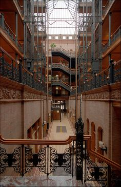 Bradbury Building, Los Angeles. Is this the one from the end of 500 day of summer?