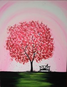 """Pink Bliss"" by Mel Latimer at Pinot's Palette Alamo Heights - Painting Library"