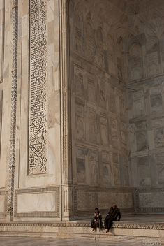 Photos of The Taj Mahal is usually a wide shot of the entire structure, beautiful but all the same - but not this internal angle. Mughal Architecture, Beautiful Architecture, Art And Architecture, Agra, Islamic World, Islamic Art, Varanasi, Taj Mahal India, Empire Ottoman