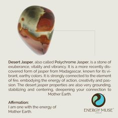 Desert Jasper // grounds, stabilizes and centers you to connect you with Mother Earth on a deeper level #crystals