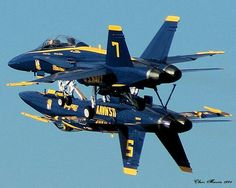 Blue Angels 5 & 7 just inches apart!