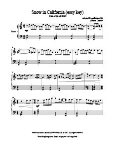 Coldplay trouble sheet music