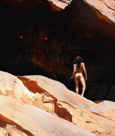 Cave, Maciej Kuciara on ArtStation at https://www.artstation.com/artwork/WmmD