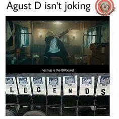 Agust D doesn't joke around