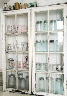Old window cabinet