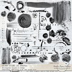 Shabby Stamps and Brushes #shabbystamps #shabbybrushes #handmade #visualartmediabundle #dawninskip #scrapbookgraphics