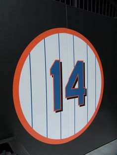 The lucky number is so awesome that the Mets decided to retire it. Number 14, Lucky Number, Red White Blue, Art Forms, Iphone Wallpaper, Calendar, Names, My Favorite Things, Color