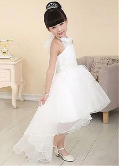 fc85eb50067 Buy discount Sweet Organza Halter Neckline Hi-lo A-line Girls  Formal Dress