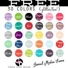 Nerd DIY // Free Social Media Icons updated!