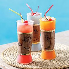 Passion Fruit Zombie l  Tiki Drinks l Apricot Brandy & Tropical Fruits l www.CarolinaDesigns.com