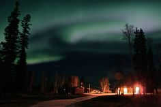 Northern Lights over cabin outside Fort Liard Northwest Territories, New Adventures, North West, Northern Lights, The Outsiders, Cabin, Nature, Travel, Image
