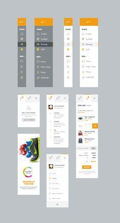 Dribbble - nike-widgets.jpg by Kenil Bhavsar