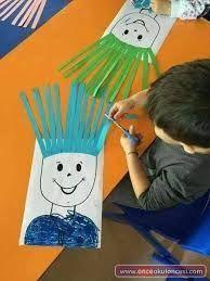 53 ideas diy kids crafts preschool fine motor for 2019 Motor Skills Activities, Toddler Learning Activities, Kids Learning, Cutting Activities For Kids, Learning Shapes, Gross Motor Skills, Learning Spanish, Kids Crafts, Toddler Crafts
