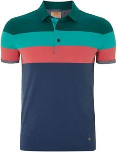9e2244fcf3 HUGO BOSS Men s Striped polo shirt - ShopStyle