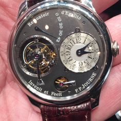 And here is ruthenium dial 1 of 99 FP Journe tourbillon with dead-beat seconds. Estimated at a reasonable US$50k-80k at Christie's New York sale June 7th. #fpjourne #tourbillon #watch #ruthenium #christieswatches #mensstyle #instagood by edwardscheckler