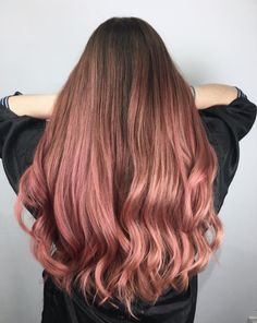 Beautiful rose gold hair by Roy Ren at Unfade Hair Studio!