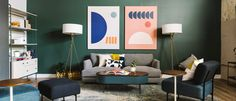See how Queer Eye's design expert Bobby Berk made over a hero's home with a whimsical use of color, smart storage solutions and modern West Elm furniture and accessories. String Lights Outdoor, Outdoor Wall Lighting, Curtains For Sale, Cozy Corner, Rug Sale, Kitchen Wall Art, West Elm, Cozy House, Family Room