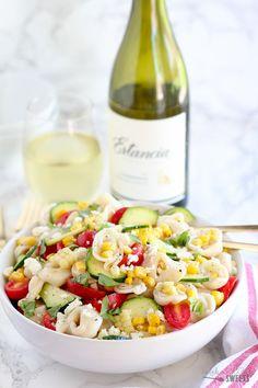 Summer Corn , Tomato and Tortellini Pasta Salad - A summery pasta ...