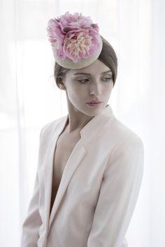 Gemma Rosa - Pastel Purple Sinamy Button Base with Silk Flowers