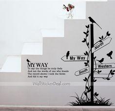 My Way Urban Wall Sticker