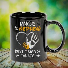 Uncle and Nephew Best Friends for Life Great t-shirts, mugs, bags, hoodie, sweatshirt, sleeve tee gift for aunt, auntie from niece, nephew or any girls, boys, children, friends, men, women on birthday, mother's day, father's day, Christmas or any anniversaries, holidays, occasions.