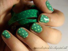 Green with polka dots!