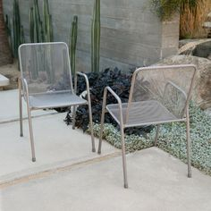 Outdoor Coral Coast Sanders Steel Mesh Patio Dining Chair - GL3S-7099-10