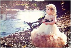 Demure Elegance A Satin Rosette Feather Dress by LoveBabyJCouture, $171.00