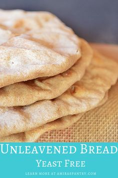A simple 4 ingredient bread recipe with a step by step guide. Passover Bread Recipe, Feast Of Unleavened Bread, Passover Recipes, Gluten Free Communion Bread Recipe, Bible Bread Recipe, Easy Bread Recipes, Cooking Recipes, Bon Appetit, Kitchens