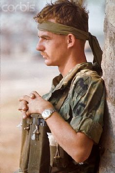 US Soldier Before Mission, Vietnam War