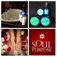 You can set the #mood with #soulpurpose #relax #destress #footsoak #footscrub www.denise.soulpurpose.net