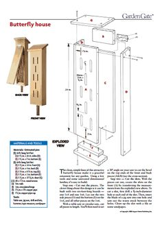 Butterfly house plans pdf woodworking projects plans for Free bat house plans do it yourself