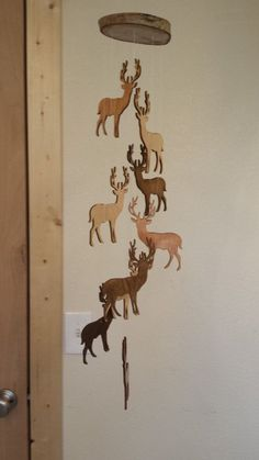 Wooden Deer Mobile Rustic by MobileMadness on Etsy