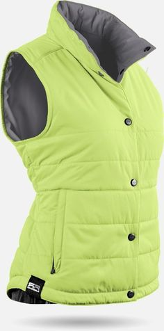 Sun Mountain Ladies & Plus Size Alpine Reversible Limeade/Gray Golf Vests at #lorisgolfshoppe